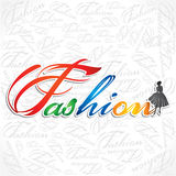 Stylish Fashion Text. Stock vector design Royalty Free Stock Photography