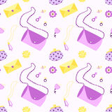 Stylish and fashion things seamless vector pattern Royalty Free Stock Image