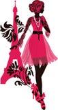 Stylish fashion woman silhouette Stock Photo