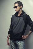 Stylish fashion young man portrait Stock Photography