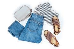 Stylish female clothes set. royalty free stock images