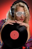 Stylish Female DJ Stock Photos