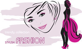 Stylish female fashion Royalty Free Stock Photo