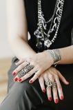 Stylish female hands Royalty Free Stock Photography