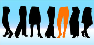 Stylish female legs Royalty Free Stock Photography