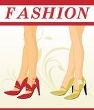 Stylish female shoes Royalty Free Stock Images
