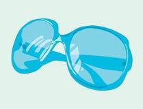 Stylish female solar blue points. Royalty Free Stock Photos