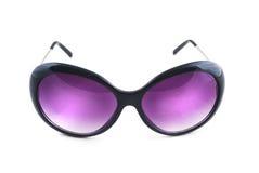 Stylish female sunglasses on white Royalty Free Stock Image