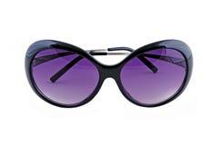 Stylish female sunglasses on white Royalty Free Stock Photos
