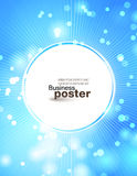 Stylish festive blue poster Stock Photos