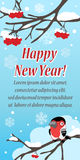 Stylish festive greeting card with bird Stock Images