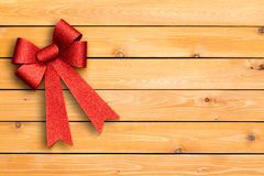 Stylish festive red Christmas ribbon Stock Image