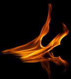 Stylish fire flames reflected in water Royalty Free Stock Photography