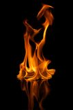 Stylish fire flames reflected in water Royalty Free Stock Images