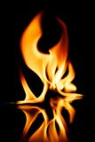 Stylish fire flames reflected in water Royalty Free Stock Photo