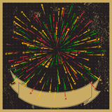 Stylish fireworks retro-style background. Royalty Free Stock Photos
