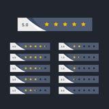 Stylish five star rating concept design. Illustration Royalty Free Stock Photos
