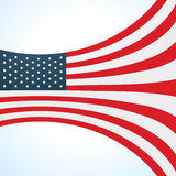 Stylish flag wave design Royalty Free Stock Photography