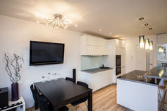 Stylish flat - Dining room Royalty Free Stock Photos