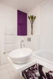 Stylish flat - White vessel sink Royalty Free Stock Photography