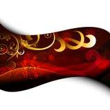 Stylish floral artwork design Stock Image