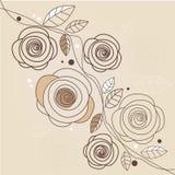 Stylish floral background. Illustration Stock Photos