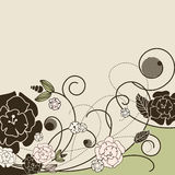 Stylish floral background Stock Images