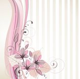 Stylish floral background Royalty Free Stock Photos