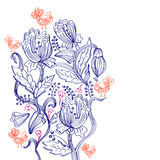 Stylish floral background Royalty Free Stock Photography