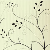 Floral background. Stylish floral background in black and beige colors Stock Photo