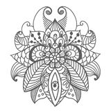 Stylish floral background, hand drawn doodle floral element Stock Photo