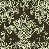 Stylish floral background, hand drawn doodle floral element, sea Royalty Free Stock Photography
