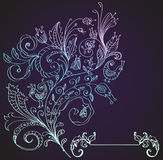 Stylish floral background, hand drawn flower Stock Image