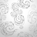 Stylish   floral background, hand drawn flowers Stock Image
