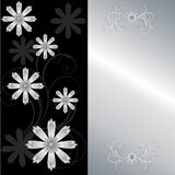 Stylish floral card Stock Images