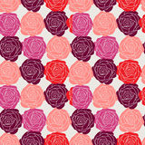 Stylish floral celebratory seamless background with roses Stock Photo
