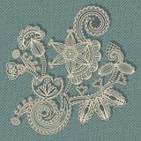 Stylish floral pattern Stock Photo