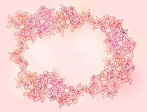 Stylish floral patterned background Stock Photo