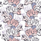 Stylish floral Seamless Background. Vector Pattern with iris flowers. Pastel colored Ornament Vector Illustration