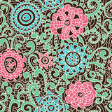 Stylish floral seamless pattern Stock Photo