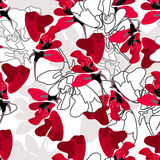 Stylish floral seamless pattern Stock Images