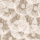 Stylish floral seamless pattern. Royalty Free Stock Photos