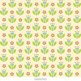 Stylish floral seamless pattern. Cute flowers in pastel colors. vector illustration