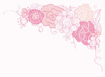 Stylish floral Valentine's Day boarder Royalty Free Stock Image