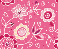 Stylish floral Valentine's Day pattern Stock Images