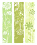 Stylish floral vector banners Royalty Free Stock Photos