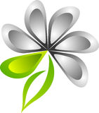 Stylish flower logo Stock Image