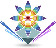 Stylish flower logo Stock Photos