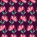 Stylish flower pattern. Royalty Free Stock Image