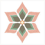 Stylish flower. For your abstract designs. Vector Image Royalty Free Stock Images